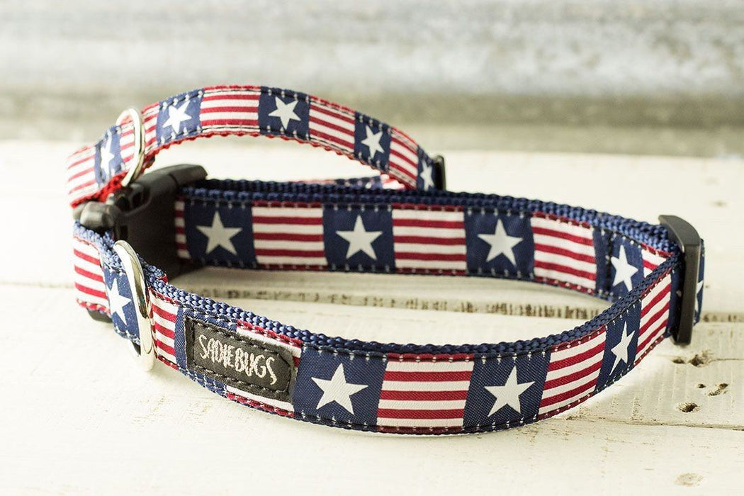 Patriotic dog collar, Stars and Stripes
