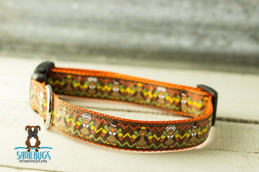 Turkey dog collar - Thanksgiving Fall