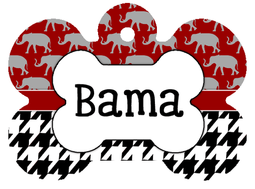 Alabama Crimson Tide Custom Pet ID Tag