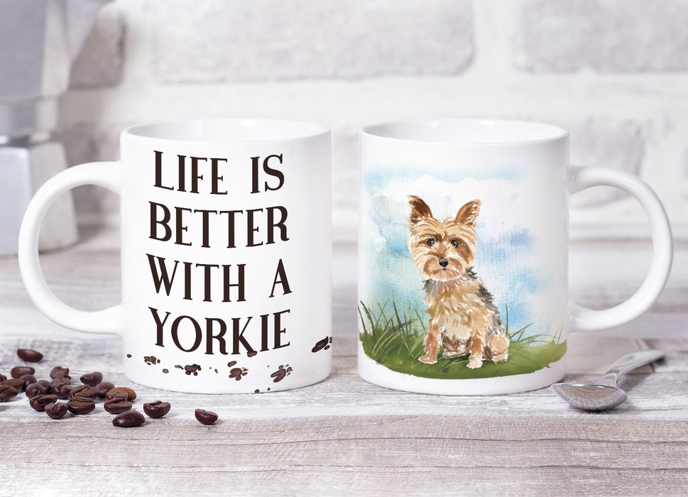 Life Is Better With A Yorkie Mug