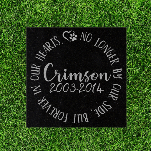 Pet Memorial Stone - Text only No longer by our side