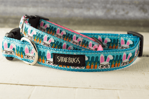 Easter Bunny nerd dog collar - Easter bunny - Exclusive From SadieBugs