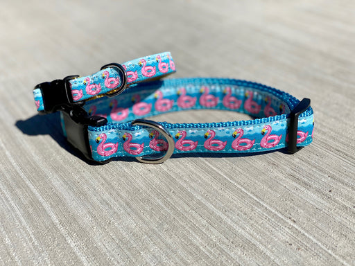 Flamingo Float Dog Collar