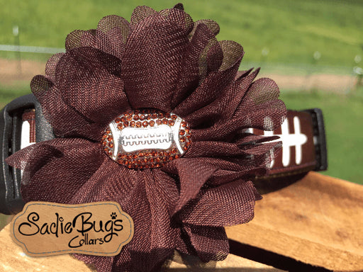 Football Flower - Flower Collar Attachment