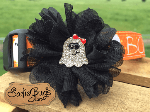 Ghost flower collar accessory