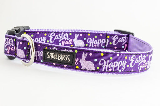 Happy Easter Yall dog collar - Easter bunny