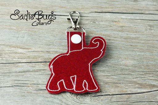 Alabama Crimson Tide Elephant Keychain Bag tag