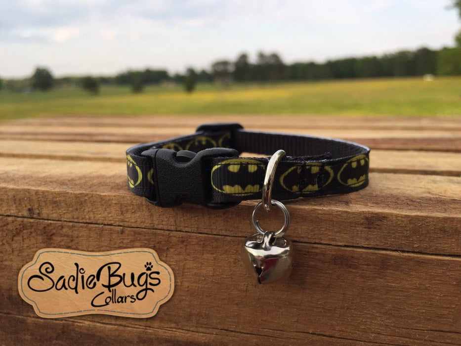 Batman cat collar