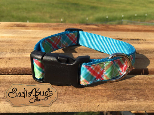 Plaid dog collar, modern dog collar, quick release dog collar