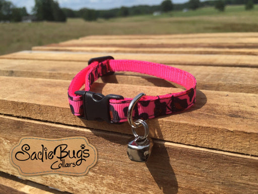 Pink leopard cat collar