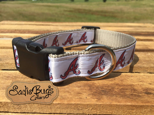 Atlanta Braves baseball dog collar - Blue and Red