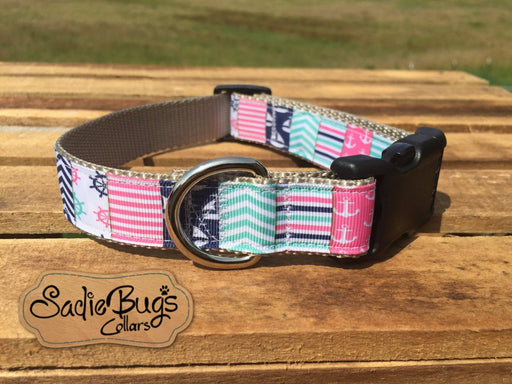 Nautical Anchor chevron dog collar