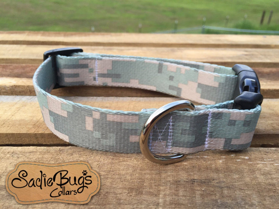 Digital camo dog collar