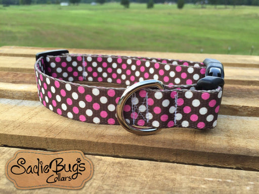 Polka Dot dog collar - Hot Pink