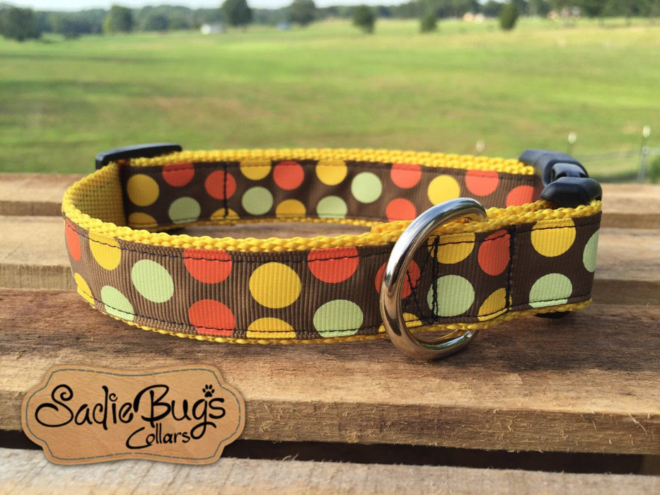 Fall Polka Dot dog collar - Autumn, Halloween