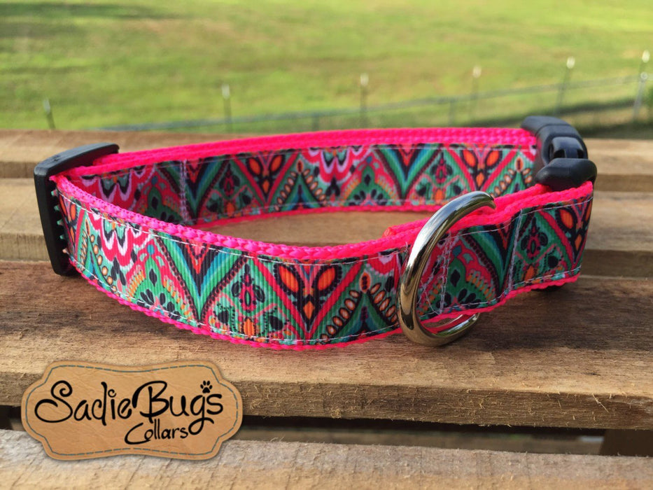 Aztec Tribal dog collar - geometric