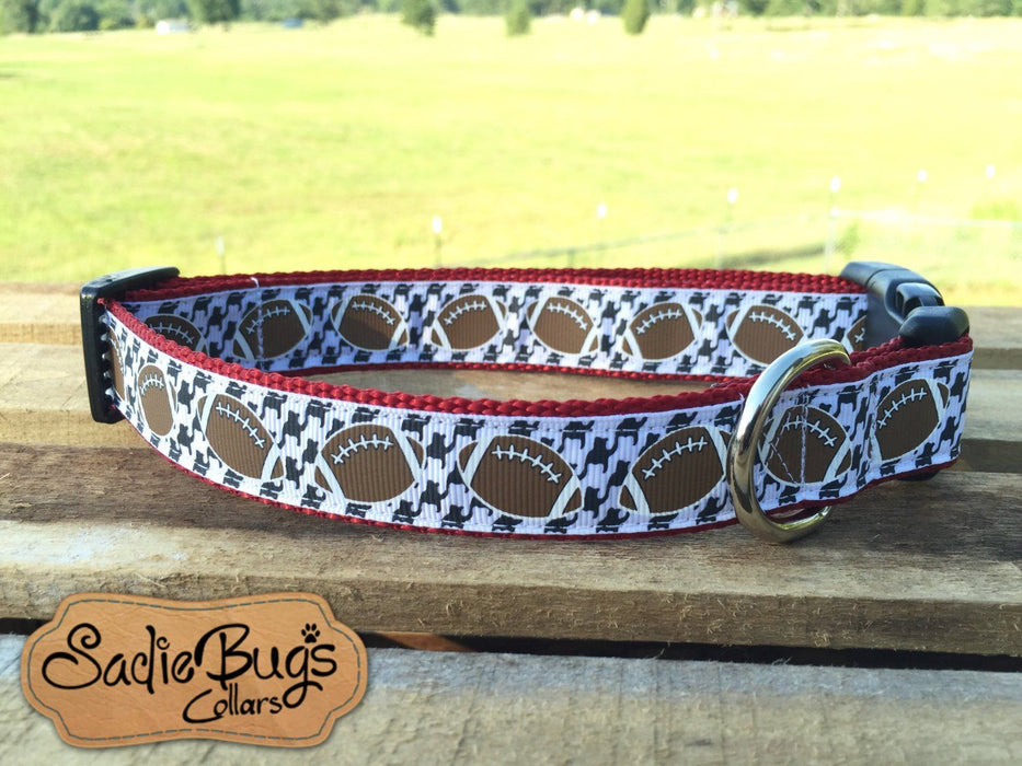 University Of Alabama Houndstooth Dog Collar, Roll Tide, Bama, Football