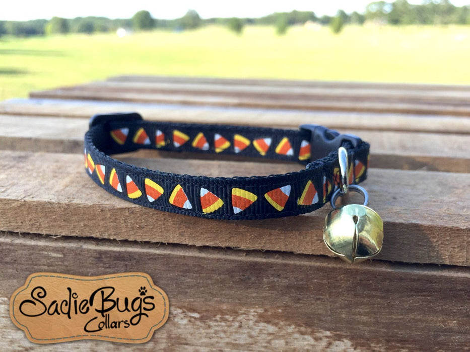Candy Corn cat collar - Halloween, Fall