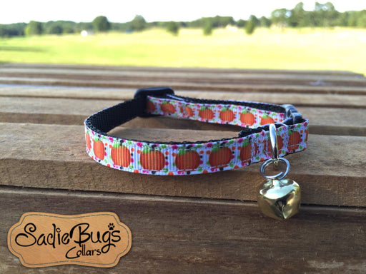 Pumpkin cat collar - Halloween, Fall