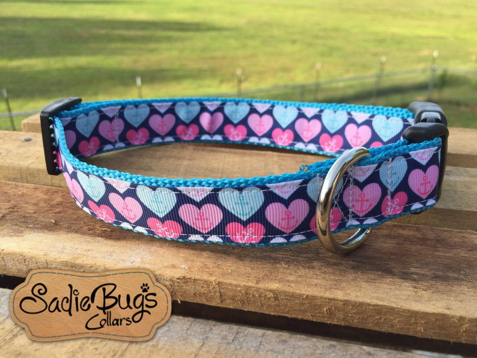 Anchor dog collar, nautical dog collar