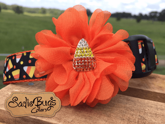 Candy Corn Flower - Flower Collar Attachment