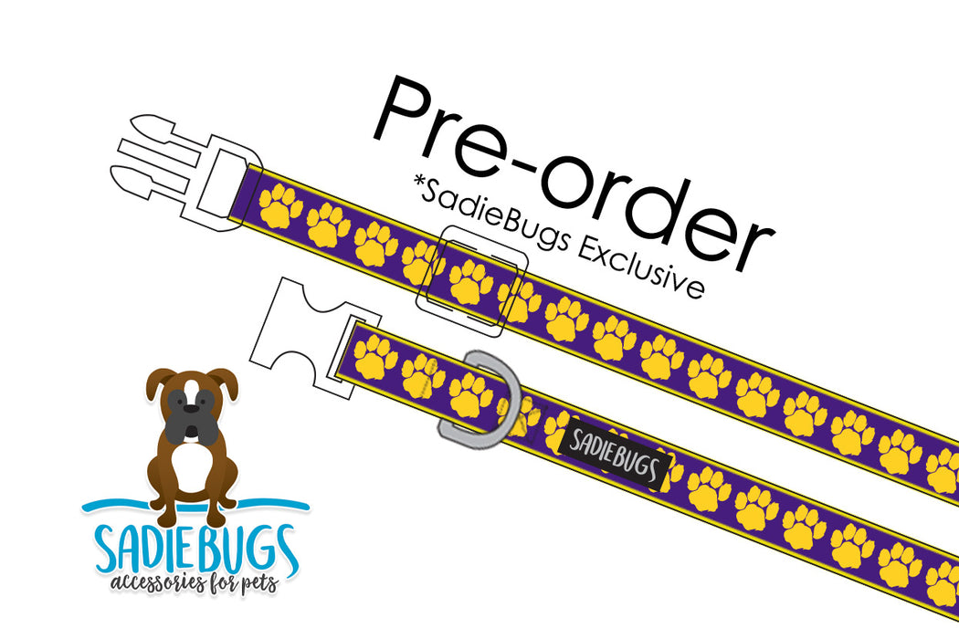 PREORDER LSU Tigers Dog Collar