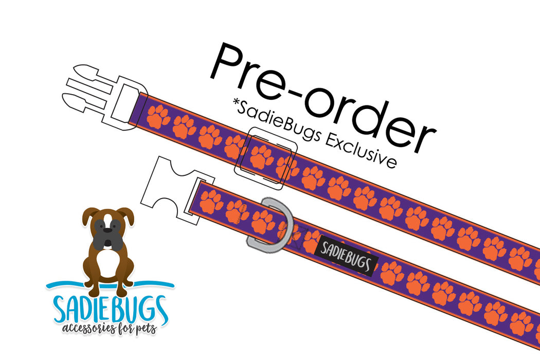 PREORDER Clemson Tigers Dog Collar