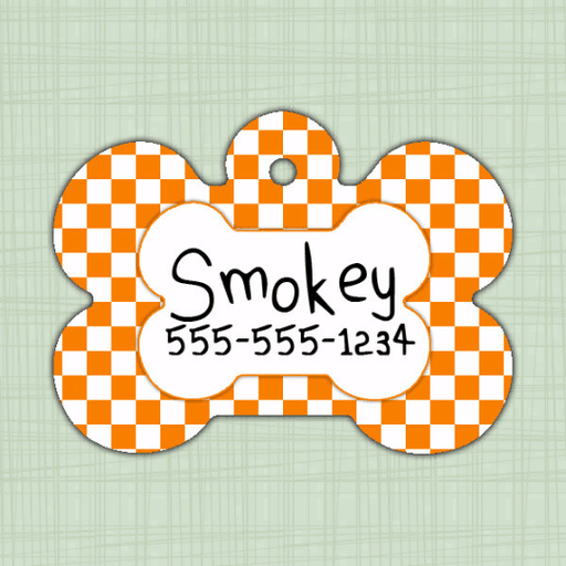 Tennessee Volunteers Pet ID Tag - Bone Shape