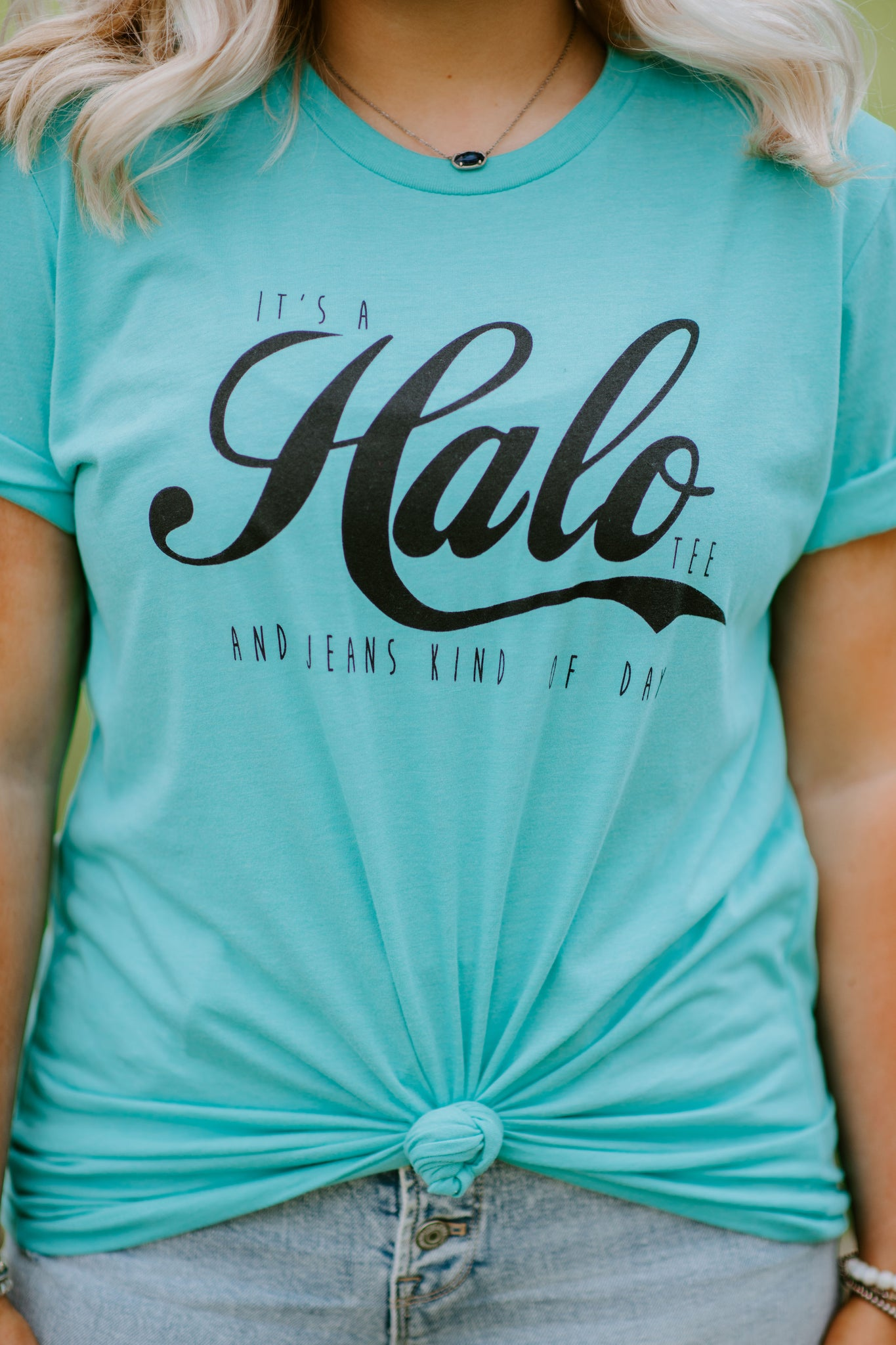 Halo Tee & Jeans {heather teal}