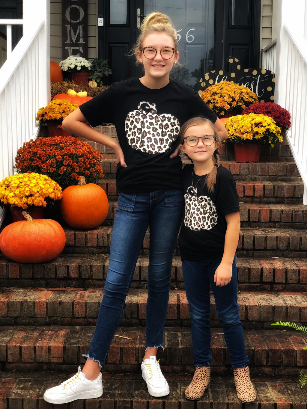Leopard Pumpkin Tees ~ Adults & Littles