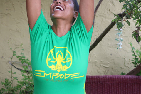 Embode Healing Arts Women's Green/Yellow Cotton Tee