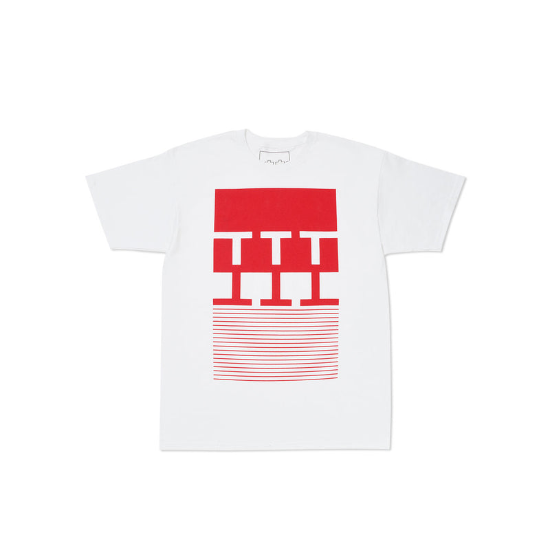 NY BLOCK STRIPES T-SHIRT WHITE