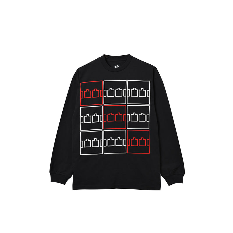 MULTI LOGO LONGSLEEVE T-SHIRT BLACK
