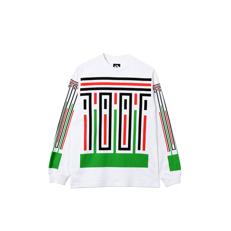 STRIPES LONGSLEEVE T-SHIRT WHITE