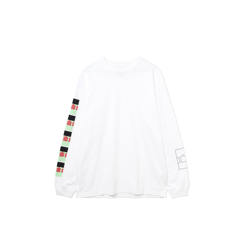 BLOCK LONGSLEEVE T-SHIRT WHITE