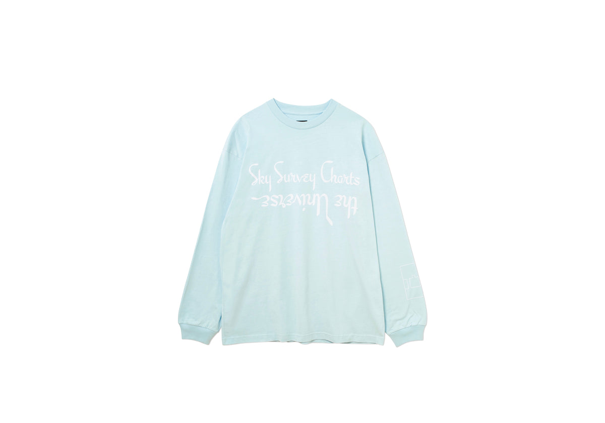 SKY SURVEY LONGSLEEVE T-SHIRT BLUE