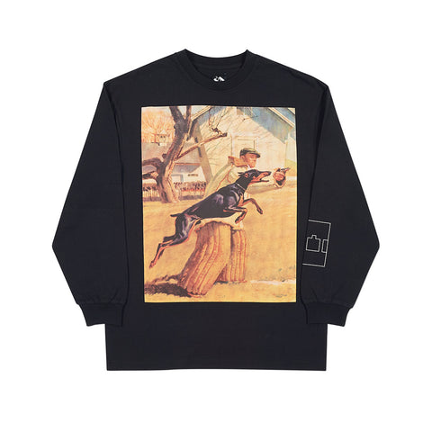 DOBERMAN PINSCHER LONGSLEEVE BLACK