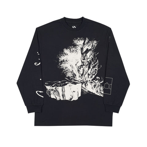 AMERICAN STATIONARY LONGSLEEVE BLACK