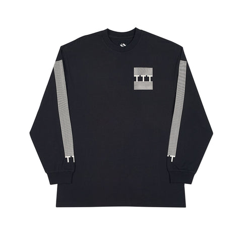 TTT BLOCK STRIPE LONGSLEEVE BLACK
