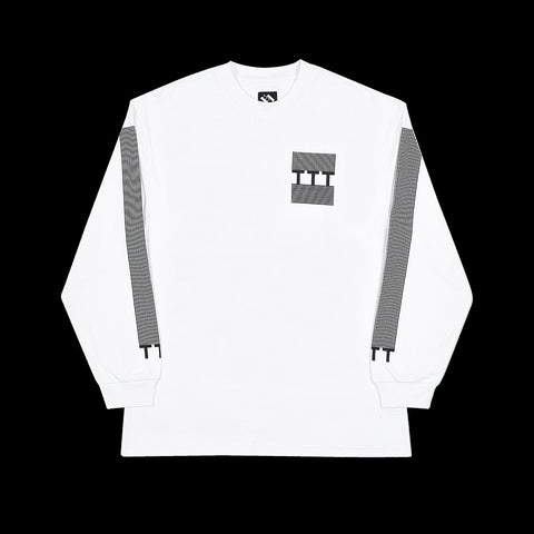 TTT BLOCK STRIPE LONGSLEEVE WHITE