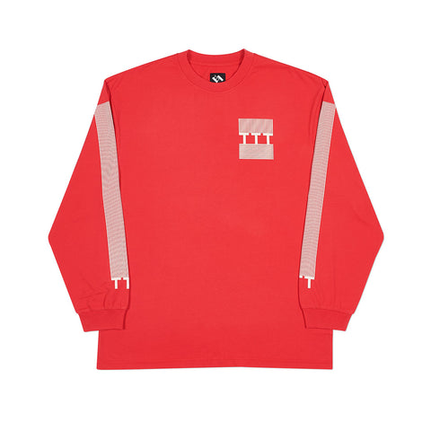 TTT BLOCK STRIPE LONGSLEEVE RED