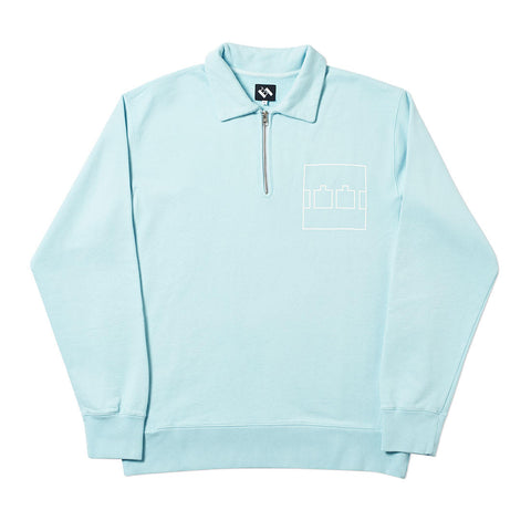 ZIP CREW OVERDYE PALE BLUE