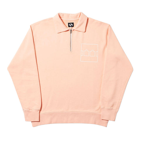 ZIP CREW OVERDYE PALE ORANGE