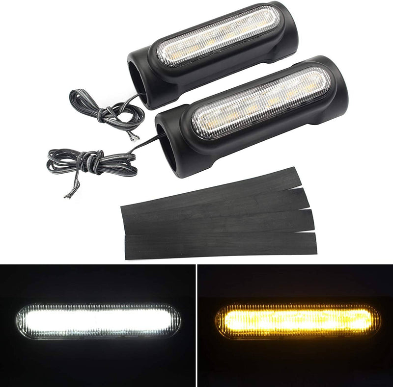 Eagle Lights Motorcycle Highway Bar Light Switchback Driving Lights DRL Turn signal (White Amber LED for Crash Bars Harley Davidson Touring Bikes)