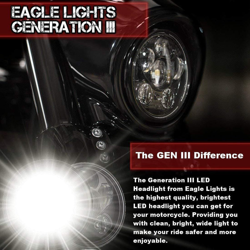 "5 ¾"" LED Headlights - Eagle Lights 5 3/4"" 8900 Series Generation III LED Projection Headlight*"