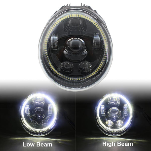 Eagle Lights V-Rod / Street Rod LED Projection Headlight with Halo Ring