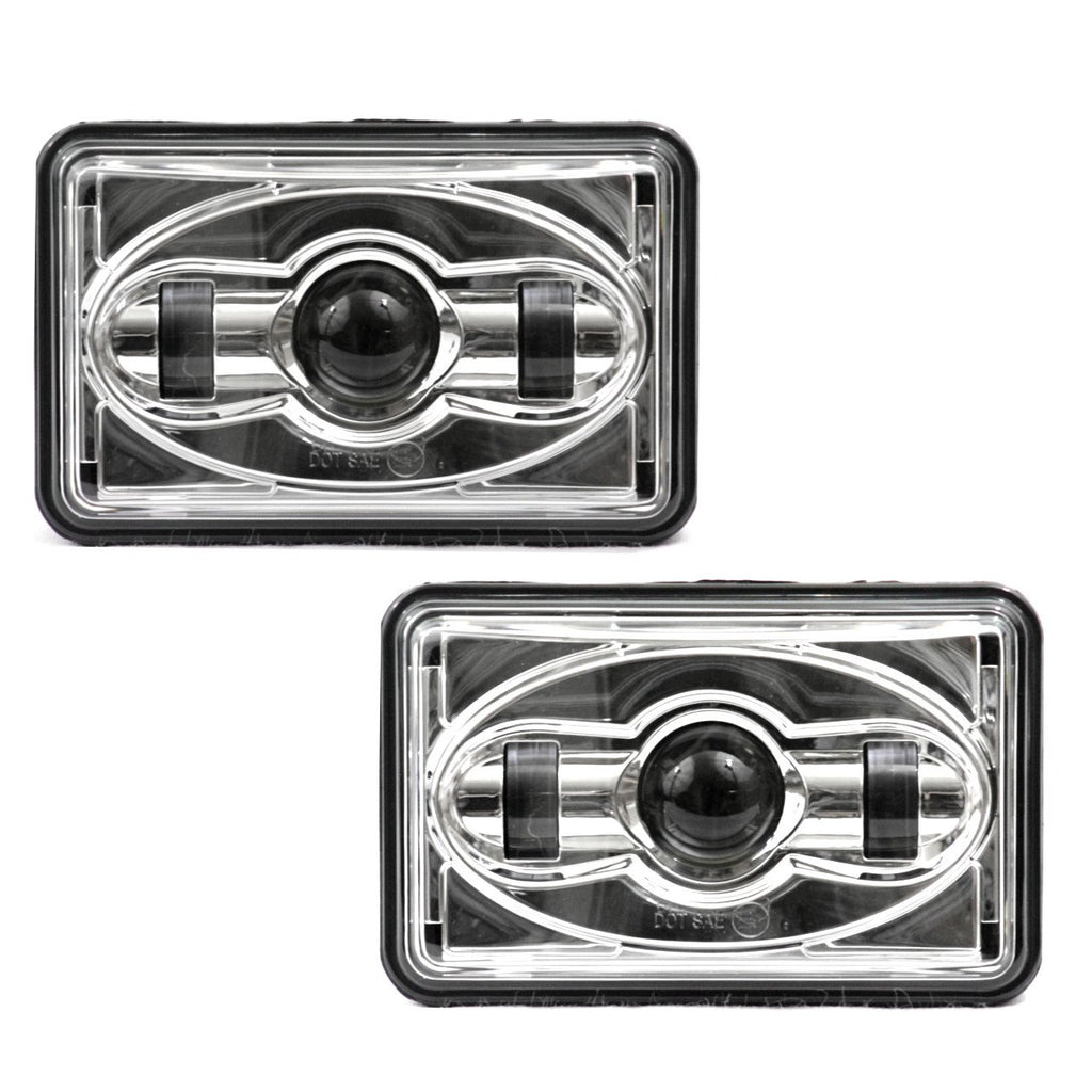 4 X 6 LED Headlights - Eagle Lights 4 X 6 LED Projection Headlight - Double Pack - 2 Headlights (1A1, 2A1)
