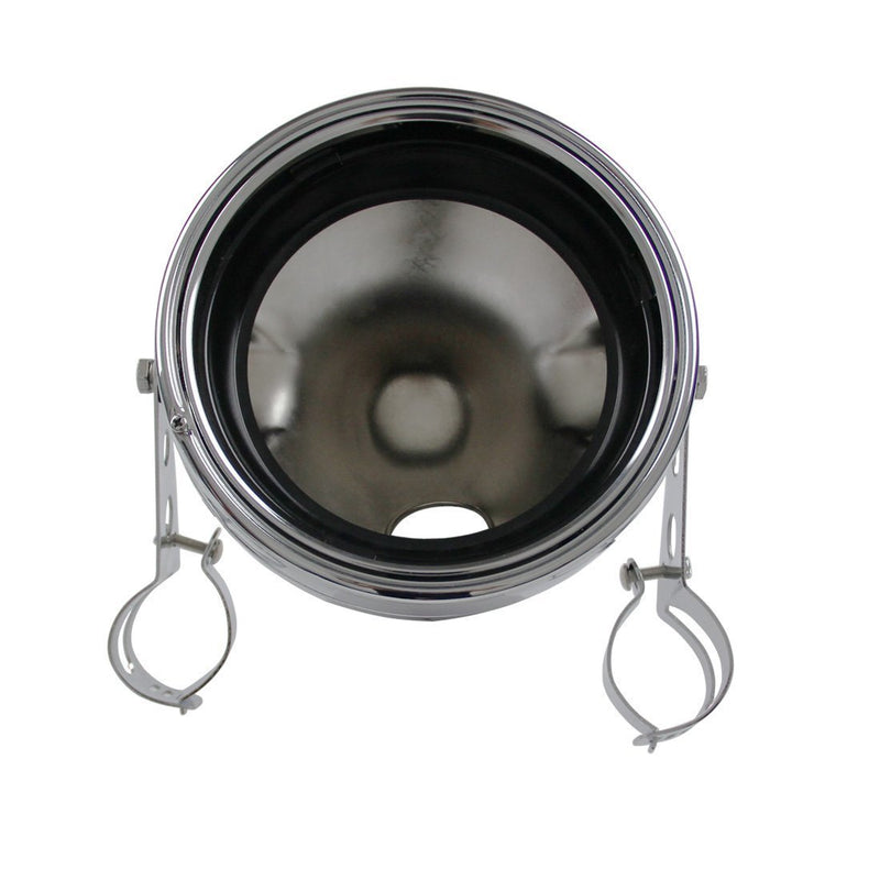 "Replacement Headlight Buckets - Eagle Lights 7"" Meteor Headlight Bucket Housing For Motorcycles With 32MM To 40MM Fork Tubes"