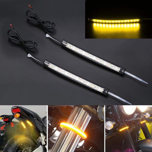 Specialty LED Turn Signals - Eagle Lights Fork Turn Signals - Wrap Around - For 39MM - 60MM Fork Tubes