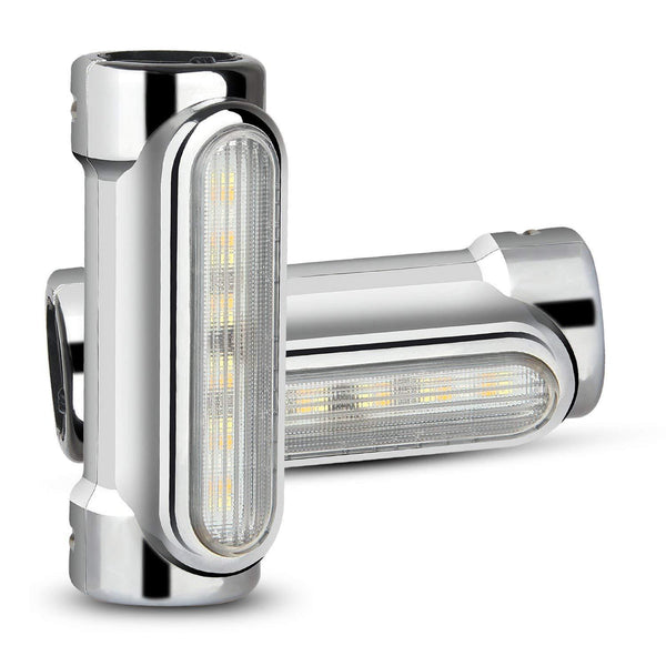 Specialty LED Turn Signals - Eagle Lights Motorcycle Highway Bar Light Switchback Driving Lights DRL Turn Signal (White Amber LED For Crash Bars Harley Davidson Touring Bikes)
